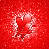 Abstract Valentine background with Heart. Stock Image
