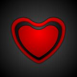 Abstract Valentine background with heart Stock Photography
