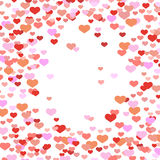 Abstract valentine background with hearts Stock Image