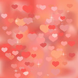 Abstract valentine background with hearts Royalty Free Stock Photo
