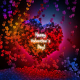 Abstract valentine background with hearts Stock Photo