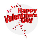Abstract valentine background with an inscription. Stock Photos