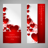 Abstract valentine banners with heart Royalty Free Stock Photo