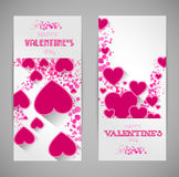 Abstract valentine banners with heart Stock Photos