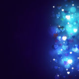 Abstract Valentine Bokeh Blue Background Royalty-vrije Stock Afbeelding