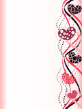 Abstract Valentine border. With Hearts Stock Image