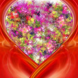Abstract valentine card. For a beautiful background vector illustration