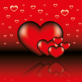 Abstract valentine card Royalty Free Stock Photos
