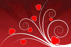Abstract valentine card Royalty Free Stock Photography