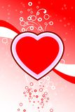 Abstract Valentine card with flowers heart shapes stars, circles Royalty Free Stock Photography