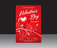 Abstract Valentine Day Flyer Stock Photos