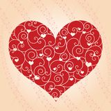 Abstract Valentine day greeting card Royalty Free Stock Images