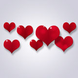 Abstract Valentine Decoration of Hearts Royalty Free Stock Photography