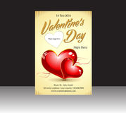 Abstract valentine flyer Stock Image