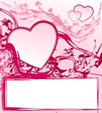 Abstract valentine frame royalty free stock photography