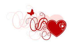 Abstract valentine heart Royalty Free Stock Photos