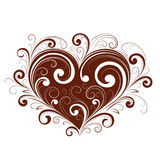 Abstract valentine heart. An abstract illustration of a valentine heart with fancy, artistic designs Stock Image