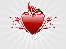 Free Abstract Valentine Heart Background Royalty Free Stock Photography - 10037697