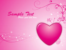 Abstract Valentine Heart Background Royalty Free Stock Photography