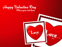 Abstract Valentine Heart Background Stock Images