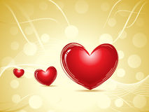 Abstract valentine heart concept Royalty Free Stock Photos