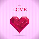 Abstract Valentine. Heart Gem. Vector Stock Images