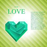 Abstract Valentine. Heart Gem. Vector Royalty Free Stock Photography