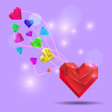 Abstract Valentine. Heart Gem. Vector Royalty Free Stock Image