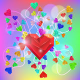 Abstract Valentine. Heart Gem. Vector Stock Photography