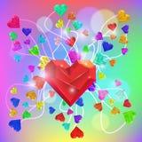 Abstract Valentine. Heart Gem. Vector. Abstract Valentine Card. Heart Gem. Vector illustration vector illustration