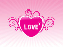 Abstract valentine heart,  illustration Stock Image