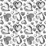 Abstract Valentine Heart Seamless Pattern Stock Photos