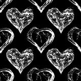 Abstract Valentine Heart Seamless Pattern Stock Images