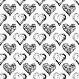 Abstract Valentine heart seamless pattern Royalty Free Stock Photos