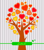Abstract Valentine heart tree Stock Photography