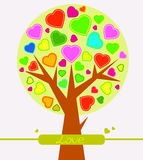Abstract Valentine heart tree Stock Photos