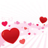Abstract valentine hearts vector royalty free stock images
