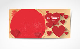 Abstract valentine horizontal banners Royalty Free Stock Photo