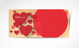Abstract valentine horizontal banners Royalty Free Stock Image