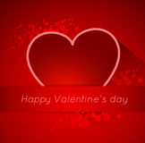 Abstract valentine postcard with heart Stock Image