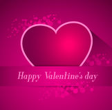 Abstract valentine postcard with heart Royalty Free Stock Image