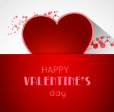 Abstract valentine postcard with heart Royalty Free Stock Photo