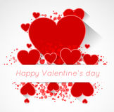 Abstract valentine postcard with heart Royalty Free Stock Photography