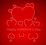 Abstract valentine postcard with heart Stock Photo