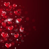 Abstract Valentine Red Background Stock Illustratie