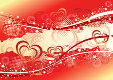 Abstract valentine's  background. Stock Images