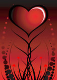 Abstract valentine's background. Vector illustration Stock Images