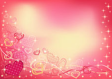 Abstract valentine`s background. Horizontal. Stock Photos