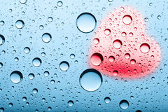 Abstract Valentine's backgrounds. Abstract backgrounds with water bubbles and heart shape royalty free stock images