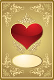 Abstract Valentine's card Stock Photos
